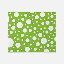 Mod Dot Spring Green Throw Blanket