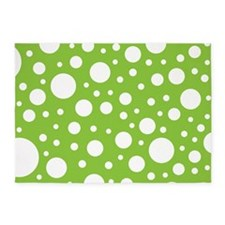 Mod Dot Spring Green 5'x7'Area Rug