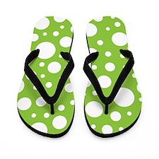 Mod Dot Spring Green Flip Flops