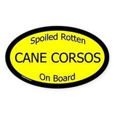 Spoiled Cane Corsos On Board Oval Decal