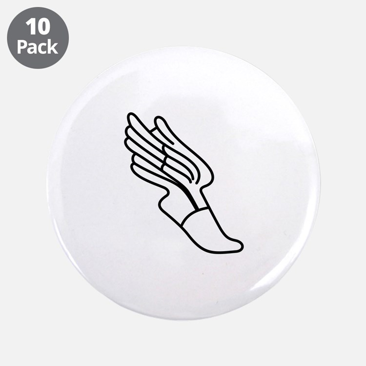 """Track Logo 3.5"""" Button (10 pack)"""
