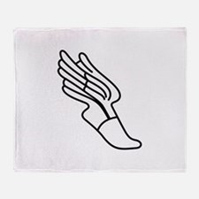 Track Logo Throw Blanket