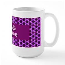 Personalized Name Purple Pattern Mug