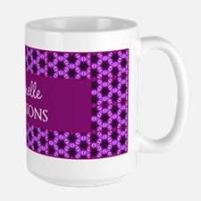 Personalized Name Purple Pattern Mug