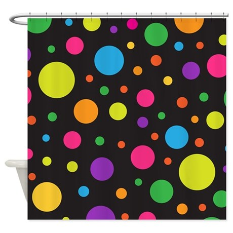 Polka Dot Colorful Fun Shower Curtain By Mainstreethomewares2