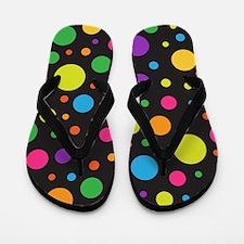 Polka Dot Colorful fun Flip Flops