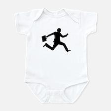 Jumping running business man Infant Bodysuit