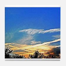 Sky Trail Sunset Tile Coaster