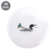 """Loon 3.5"""" Button (10 pack)"""
