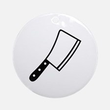 Butcher knife cleaver Ornament (Round)