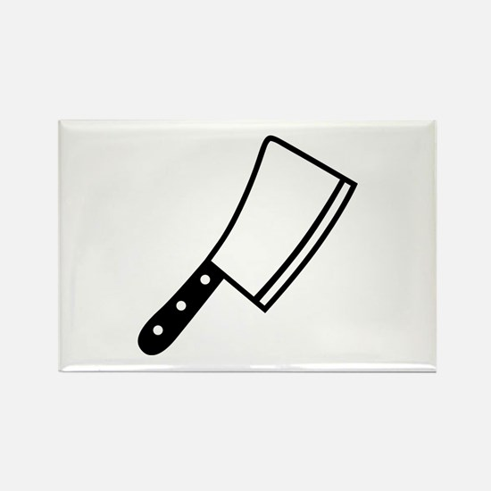 Butcher knife cleaver Rectangle Magnet