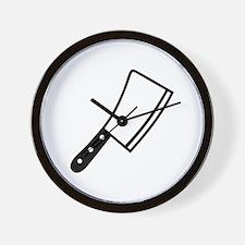 Butcher knife cleaver Wall Clock