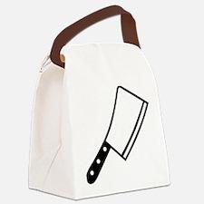 Butcher knife cleaver Canvas Lunch Bag