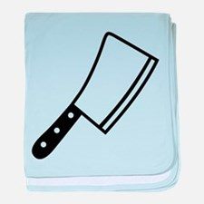 Butcher knife cleaver baby blanket