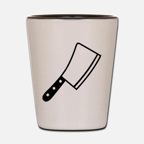 Butcher knife cleaver Shot Glass