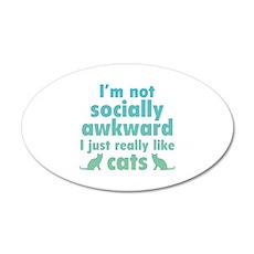 I Just Really Like Cats 22x14 Oval Wall Peel