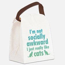 I Just Really Like Cats Canvas Lunch Bag