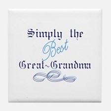 Best Great Grandma Tile Coaster