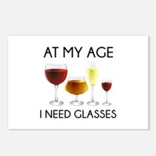 At My Age I Need Glasses Postcards (Package of 8)