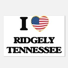 I love Ridgely Tennessee Postcards (Package of 8)