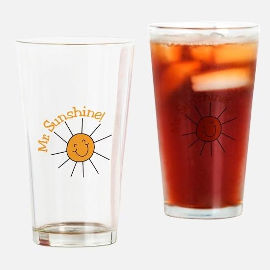Mr. Sunshine Drinking Glass
