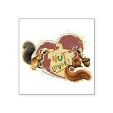 "Scrat Nut Lover Square Sticker 3"" x 3"""