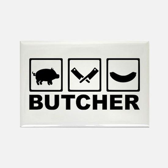 Butcher Rectangle Magnet