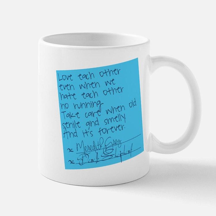 Grey's Anatomy: Post It Small Mugs