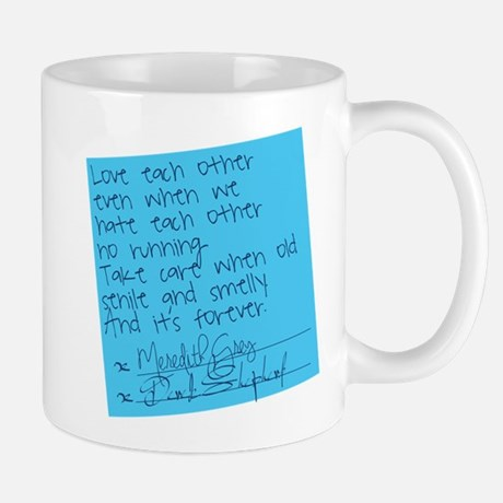 Grey's Anatomy Sticky Note Mug