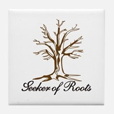 Seeker of Roots Tile Coaster