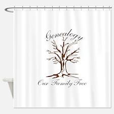 Genealogy Shower Curtain