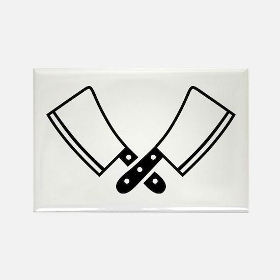 Butcher knives cleaver Rectangle Magnet