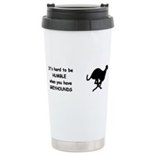 Cute Greyhound Travel Mug