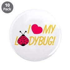 """Love My Ladybug 3.5"""" Button (10 pack)"""