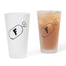 F-Bomb version 1 Drinking Glass