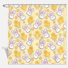 Bunny Business Shower Curtain