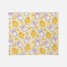 Bunny Business Throw Blanket