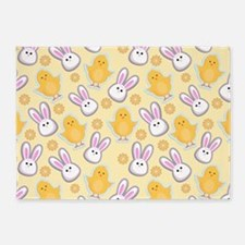 Bunny Business 5'x7'Area Rug