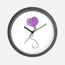 Single Heart Balloon Wall Clock