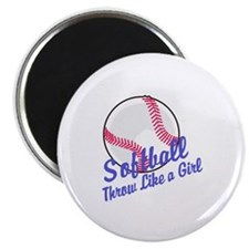 Throw Like a Girl Magnets
