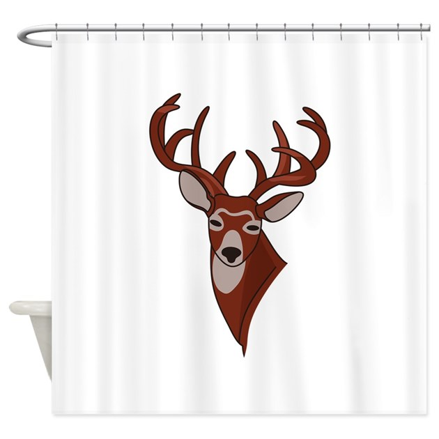 Whitetail Deer Head Shower Curtain By Grandslamdesigns03