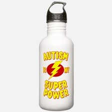 Autism is My Super Pow Water Bottle