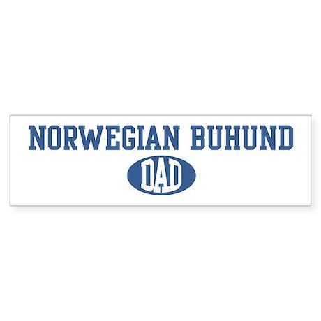 Norwegian Buhund dad Bumper Sticker