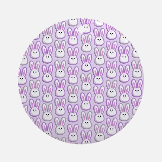 Bunny Wave Ornament (Round)