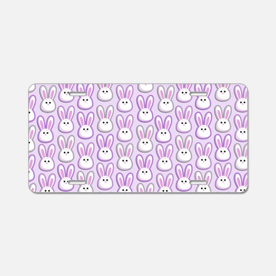Bunny Wave Aluminum License Plate
