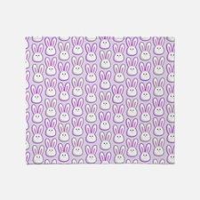 Bunny Wave Throw Blanket