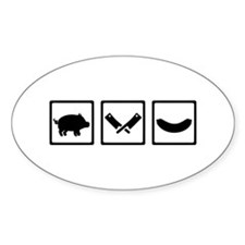 Butcher pig cleaver sausage Decal