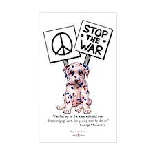 Stop the War! Rectangle Decal