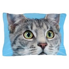 Beautiful Green Eyed Kitty Cat Pillow Case