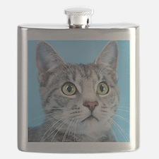 Beautiful Green Eyed Kitty Cat Flask